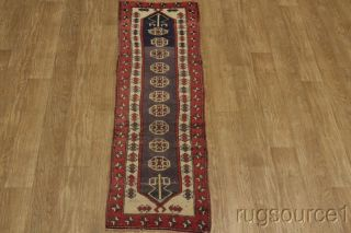ANTIQUE TRIBAL RUG RUNNER! 2X8 KAZAK CAUCASIAN ORIENTAL AREA RUG WOOL