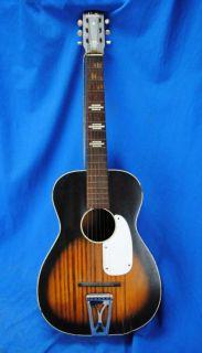 Vintage Stella Harmony Acoustic Guitar Sunburst USA Made