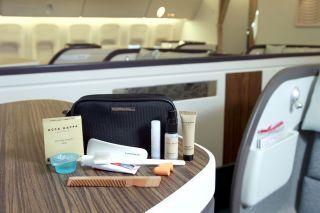 Zegna Cathay Pacific Travel Kit Acca Kappa Bag Wash Make Up Case Tie