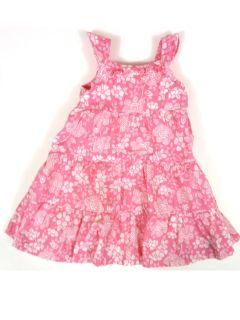Girls 12 Months Osh Kosh Pink White Floral Dress