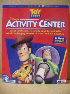 Disneys Toy Story Activity Center CD Kids Problem Solving Games New
