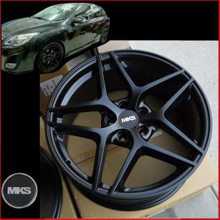 5x114 3 Black Concave Wheels Acura CL TL RL RSX CSX TSX MDX RDX