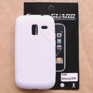 Samsung Galaxy Ace 2 I8160 TPU Gel White Case Screen Protector