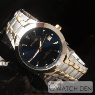 Accurist Mens Two Tone Navy Dial watch MB859N