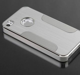 Silver Luxury Steel Chrome Deluxe Hard Back Case Cover for Apple