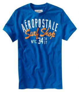Aeropostale Mens Graphic Surf Shop NYC T Shirt