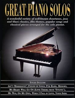 Great Piano Solos Piano Solo Song Book Sheet Music