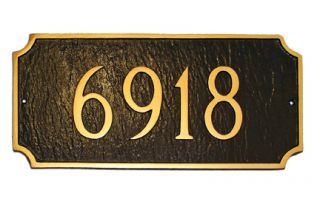Princeton Address Plaque Lawn House Sign Numbers Wall Custom
