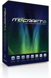 New Acoustica Mixcraft 6 Multi Track Recording Studio Serial License