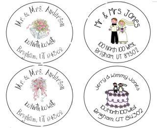 Wedding Bridal Shower Round Address Labels Personalized