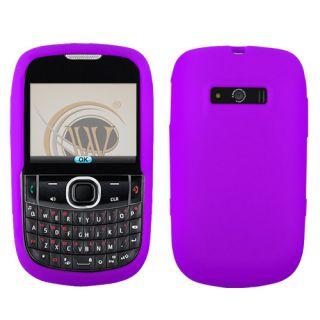 For Verizon ZTE F450 Adamant Phone Purple Accessory Silicone Soft Case