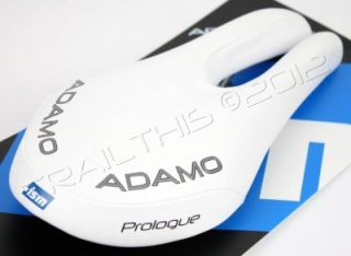 NEW ISM ADAMO PROLOGUE White Ergo Bike/Bicycle Road Saddle/Seat