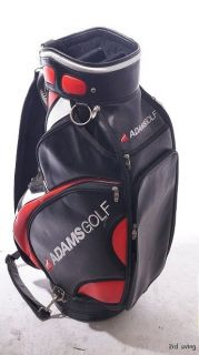 Adams Golf Staff Bag   5 Way Top 10.5 Inch Black White Red i