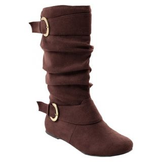 Womens Glaze by Adi Buckle Accent Faux Suede Slouchy Boot. Additional