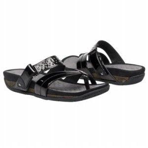 Privo by Clarks Adara Black Patent Leather Sandal Sz 9