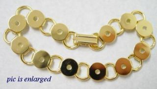 Add A Button Gold Plated Charm Link Bracelet