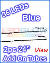Blue LED Underbody Underglow Under Car Neon Light Kit w. 4 Tubes, 126