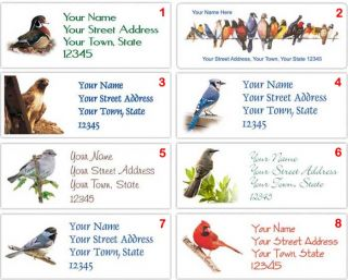 Your Favorite Birds Personalized Return Address Labels