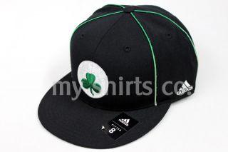 Boston Celtics NBA Adidas Black Green Fitted Cap New