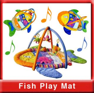 Fish Shape Baby Play Mat Activity Gym with Different Fabrics