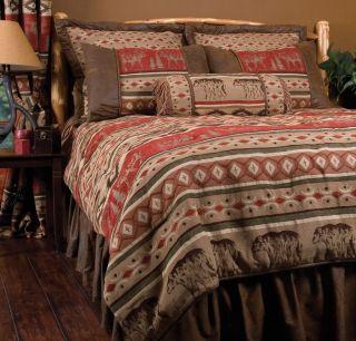 Bedding Set Twin Queen King Rustic Cabin Lodge Adirondack New