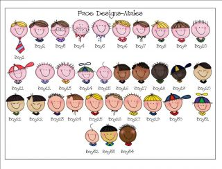 Personalized Stick Faces People Return Address Labels