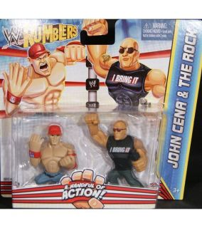 WWE Rumblers Action Figures 2 Pack   John Cena & The Rock