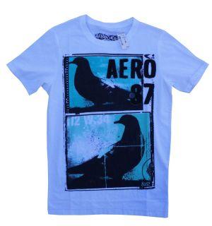 Aeropostale Mens T Shirts White Small Brand New Aero 87 Fabric Sewn