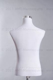 Male Mannequin Torso Pinnable Dress Form Adjustable Metal Stand Torso