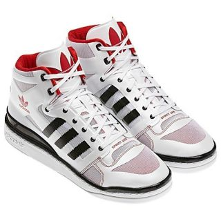 Adidas Originals Mens Forum Mid Crazy Light Basketball Shoes Rose