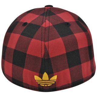 NBA TX80Z Miami Heat Adidas Fitted Cap Hat Plaid Flat Bill Size 7 1 4