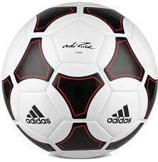 Adidas adiPURE Glider Soccer Ball White Red Black Size 5