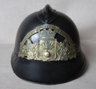 WWI FRENCH ADRIAN HELMET MODEL 1915 M15 ARMY FIREFIGHTER BRIGADE