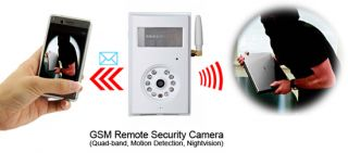 Wireless Monitoring Camera Security GSM Remote Camera SMS MMS Alarm IR