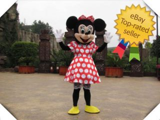 100 Brand New Mickey Minnie Mouse Mascot Costume Adult★ Fast