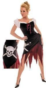 Adult Pirate Wench Womens Halloween Costume Dress Up Caribbean