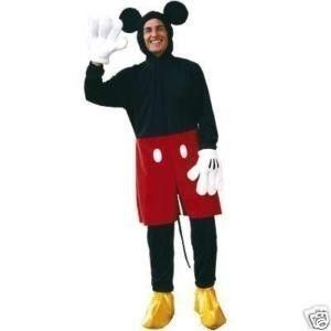 New  Mickey Mouse Adult Mens Costume M L Halloween