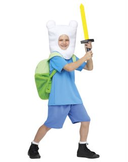 Adventure Time Finn Costume Kids XL 14 16 Boys Girls Unisex Child