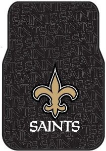 New Orleans Saints Car Steering Wheel Cover Rubber PVC