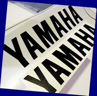 Yamaha Black 13in 33cm Decals Decal Stickers R6 R1 FZR