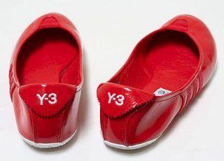 Women Red Y 3 Adidas Y3 Yohji Yamamoto Ballet Ballerina Sport Flats
