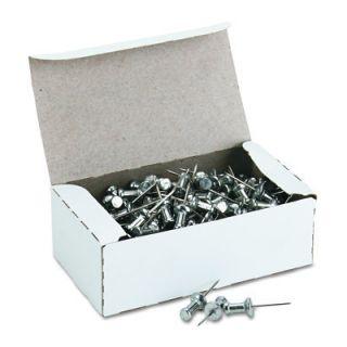 Advantus Aluminum Head Push Pins Steel Point 5 8 100 Count Silver New