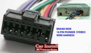 Pioneer Wire Harness 16 Pin Aftermarket Radio 2003 07