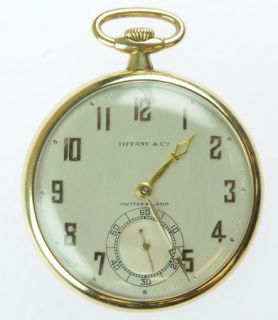 Antique Tiffany Co 18K Solid Gold Pocket Watch
