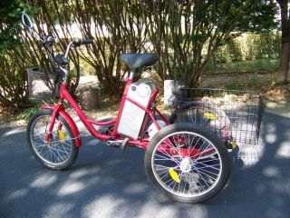 wheel three wheeler electric battery / pedal adult tricycle trike