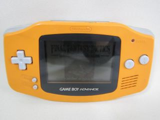 Nintendo Game Boy Advance Console System AGB 001 Gameboy Orange 18279