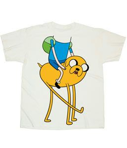 Adventure Time with Finn Jake Friends Costume Licensed Adult T Shirt s