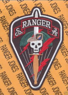 Co 3 75 Inf Airborne Ranger Regt Tan Beret Patch