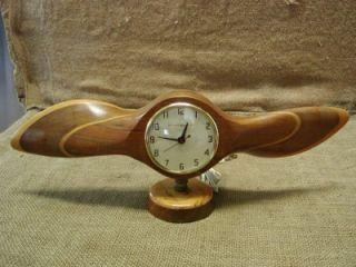 Airplane Propeller Alarm Clock Antique Old Aviation Plane Clocks