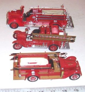 Vintage Signature Model Ford Fire Trucks 1938 Pumper; 1926 Ladder
